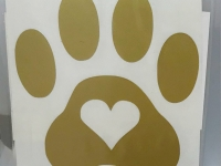 Gold Heart in Paw