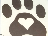 Brown Heart in Paw