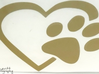 Gold Heart and Paw