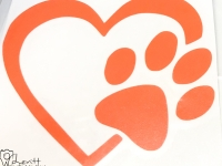 Orange Heart and Paw