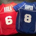 Custom Dog Football Jersey size XXS